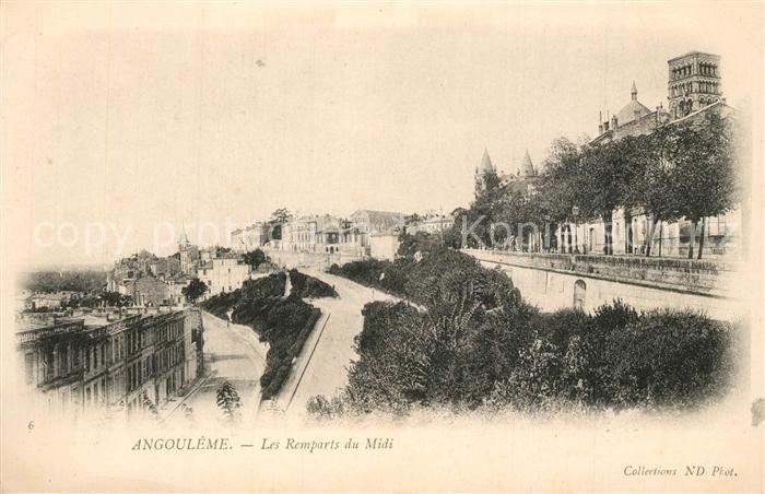 AK / Ansichtskarte Angouleme Remparts du Midi Angouleme