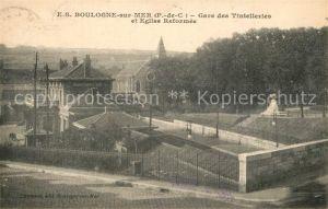 AK / Ansichtskarte Boulogne sur Mer Gare des Tintelleries Eglise Reformee Boulogne sur Mer