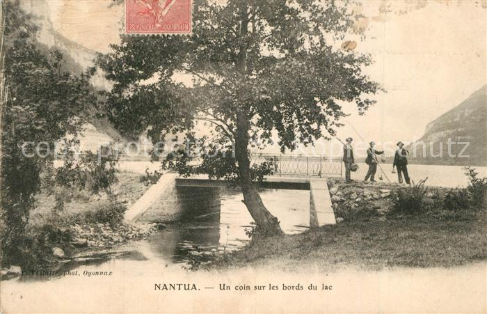 AK / Ansichtskarte Nantua Angler See Nantua