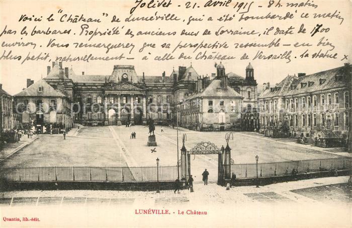 AK / Ansichtskarte Luneville Chateau Luneville