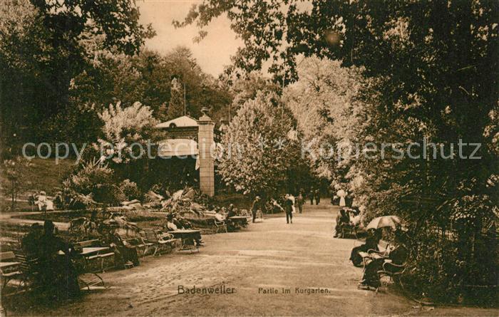 AK / Ansichtskarte Badenweiler Partie im Kurgarten Badenweiler
