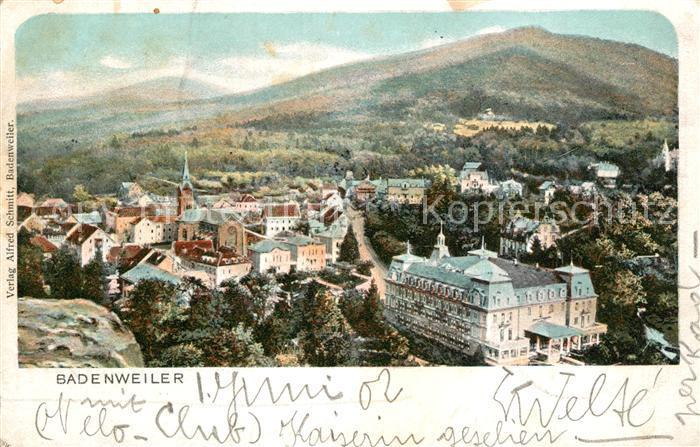 AK / Ansichtskarte Badenweiler Panorama Schwarzwald Hotel Schloss Hausbaden Badenweiler