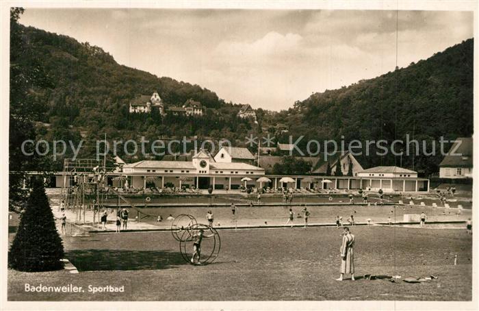 AK / Ansichtskarte Badenweiler Sportbad Freibad Kurort im Schwarzwald Badenweiler