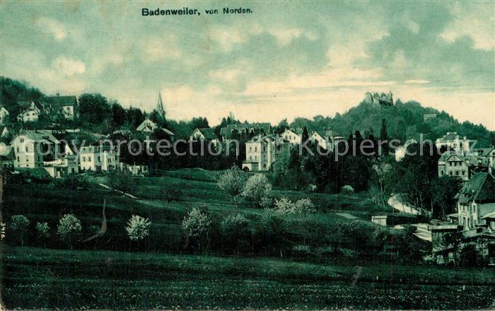 AK / Ansichtskarte Badenweiler Ansicht von Norden mit Burgruine Kurort im Schwarzwald Badenweiler