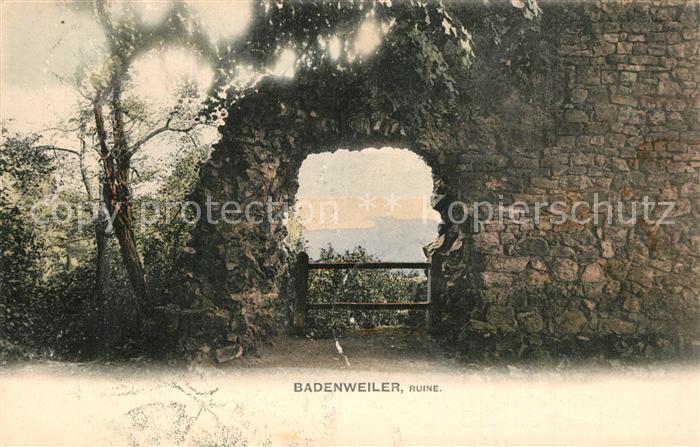 AK / Ansichtskarte Badenweiler Burgruine Badenweiler