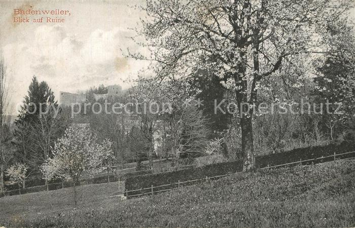 AK / Ansichtskarte Badenweiler Blick zur Burgruine Kurort im Schwarzwald Badenweiler