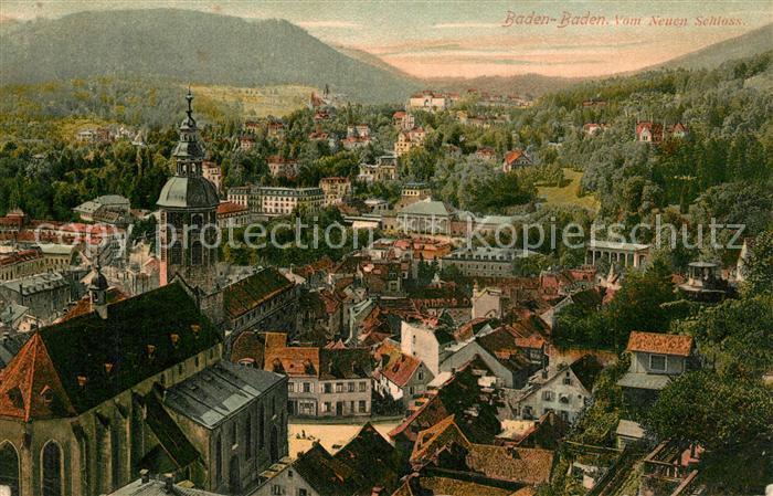 AK / Ansichtskarte Baden Baden Panorama Blick vom Neuen Schloss Schwarzwald Baden Baden