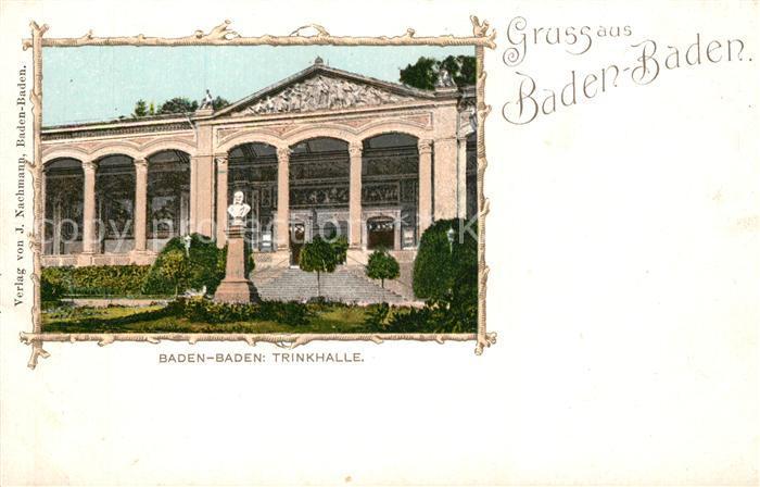 AK / Ansichtskarte Baden Baden Trinkhalle Bilderrahmen Baden Baden