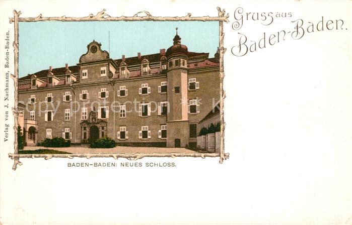 AK / Ansichtskarte Baden Baden Neues Schloss Bilderrahmen Baden Baden