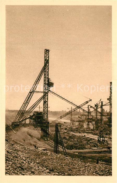 AK / Ansichtskarte Kembs_Elsass Ecluses grandes tours a betonner 1930 Kembs Elsass 0