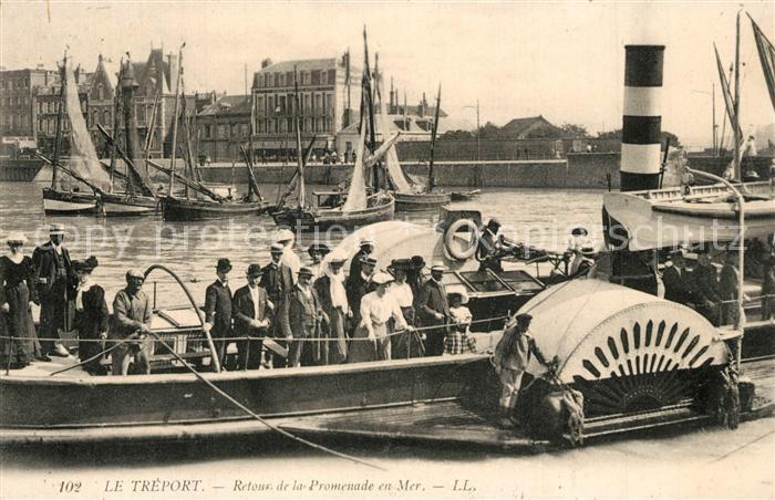 AK / Ansichtskarte Le_Treport Retour de la Promenade en Mer Le_Treport 0