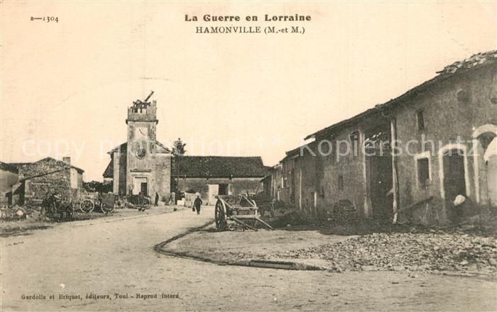 AK / Ansichtskarte Hamonville La Guerre en Lorraine Hamonville 0