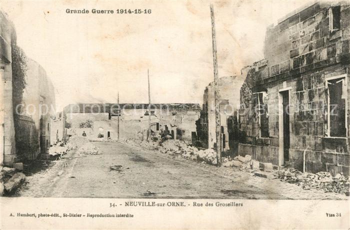 AK / Ansichtskarte Neuville sur Touques La Guerre de 1914 Rue des Groseillers Neuville sur Touques 0