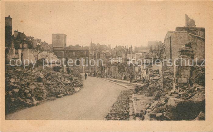 AK / Ansichtskarte Chatillon sur Seine la rue de l'Isle apres le bombardement du 15 Juin 1940 Chatillon sur Seine 0