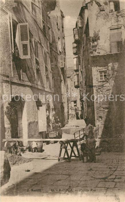 AK / Ansichtskarte Bastia Vieille Rue Bastia 0