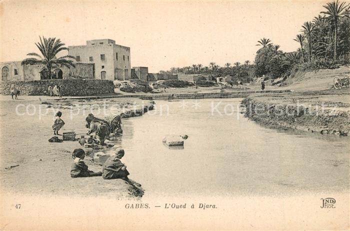 AK / Ansichtskarte Gabes Oued a Djara Gabes 0