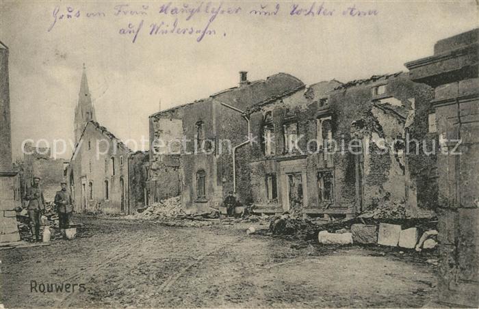 AK / Ansichtskarte Rouwers Zerstoertes Dorf in WK1 Rouwers 0