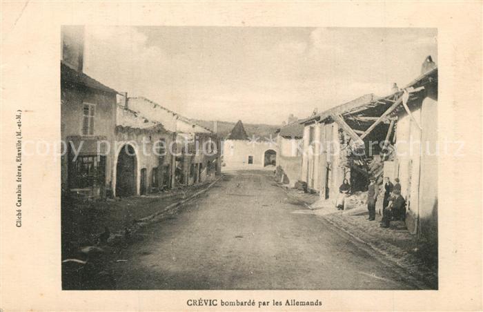 AK / Ansichtskarte Crevic bombarde par les Allemands Crevic 0