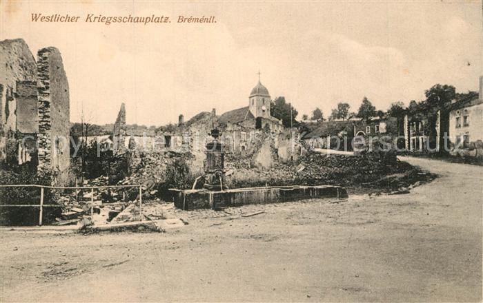 AK / Ansichtskarte Bremenil Westl Kriegsschauplatz Bremenil