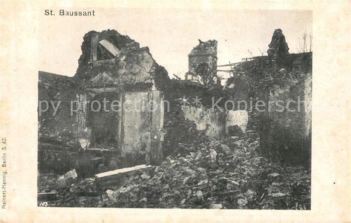 AK / Ansichtskarte Saint Baussant nach Zerstoerung Saint Baussant