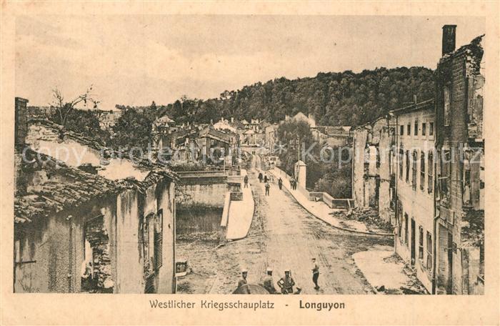 AK / Ansichtskarte Longuyon Westlicher Kriegsschauplatz Longuyon