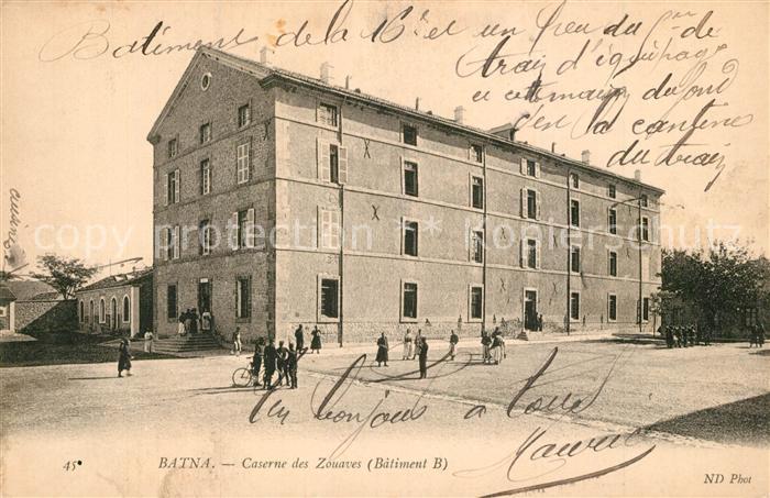 AK / Ansichtskarte Batna Caserne des Zouvaves Batna 0