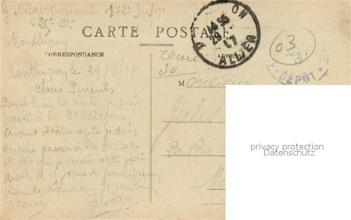 AK / Ansichtskarte Montlucon Boulevard de Courtais Hotel des Postes et la Chambre de Commerce Montlucon 1