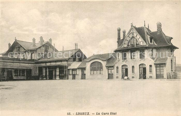 AK / Ansichtskarte Lisieux La Gare Etat Lisieux 0