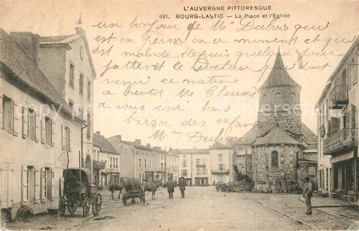AK / Ansichtskarte Bourg Lastic La Place et l Eglise Bourg Lastic 0