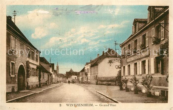 AK / Ansichtskarte Wintzenheim_Colmar Grand Rue Wintzenheim Colmar 0
