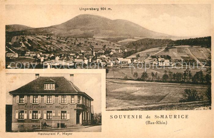 AK / Ansichtskarte Saint Maurice_Selestat Erstein Ungersberg Restaurant Meyer Saint Maurice 0