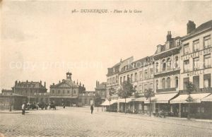 AK / Ansichtskarte Dunkerque Place de la Gare Dunkerque