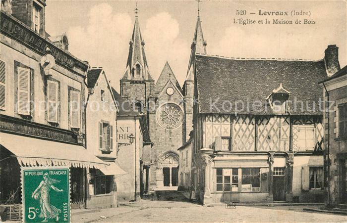 AK / Ansichtskarte Levroux Eglise et la Maison de Bois Levroux 0