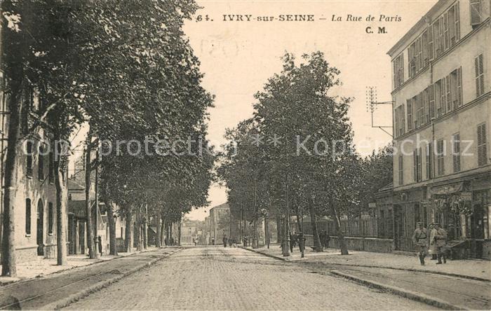 AK / Ansichtskarte Ivry sur Seine La Rue de Paris Ivry sur Seine 0