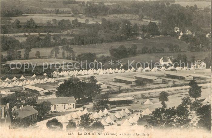 AK / Ansichtskarte La_Courtine Camp d Artillerie La_Courtine