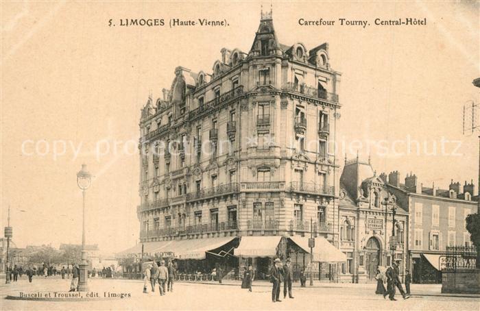 AK / Ansichtskarte Limoges_Haute_Vienne Carrefour Tourny Central Hotel Limoges_Haute_Vienne 0
