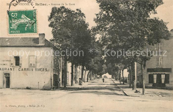 AK / Ansichtskarte Bellac Avenue de la Gare Bellac 0