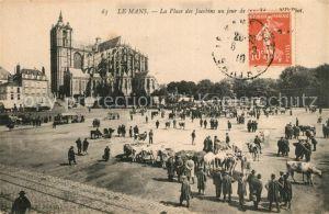 AK / Ansichtskarte Le_Mans_Sarthe La Place des Jacobins und Jour de Marche Le_Mans_Sarthe