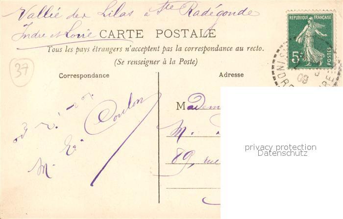 AK / Ansichtskarte Sainte_Radegonde_Indre_et_Loire Les Quais et le Coteau fleuri  1