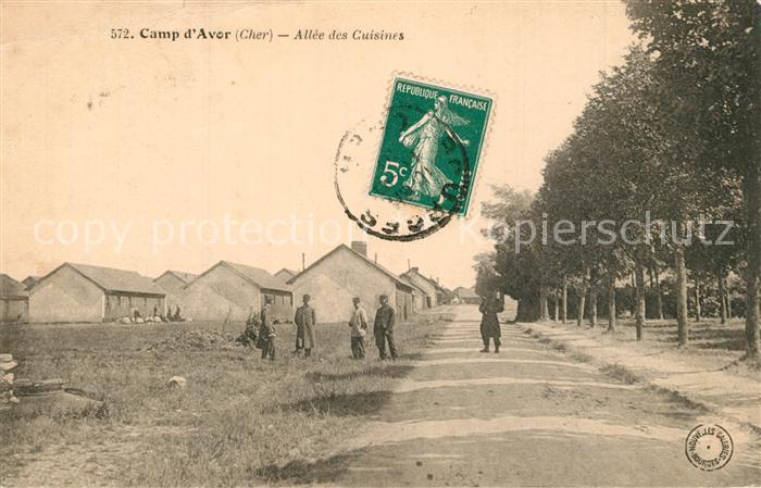AK / Ansichtskarte Avord Camp d'Avor Allee des Cuisines Avord 0