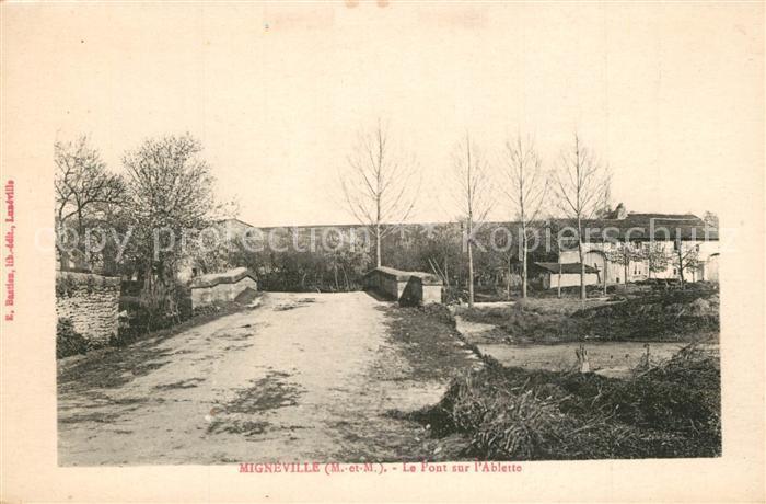 AK / Ansichtskarte Migneville Le Pont sur l Ablette Migneville 0
