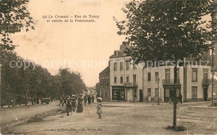 AK / Ansichtskarte Le_Creusot_Saone et Loire Rue de Torcy et entree de la Promenade Le_Creusot_Saone et Loire 0