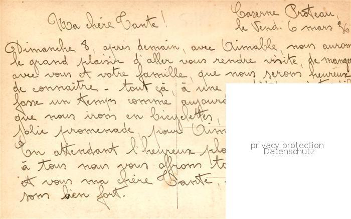 AK / Ansichtskarte Cherbourg_Octeville_Basse_Normandie Caserne Proteau Cherbourg_Octeville 1