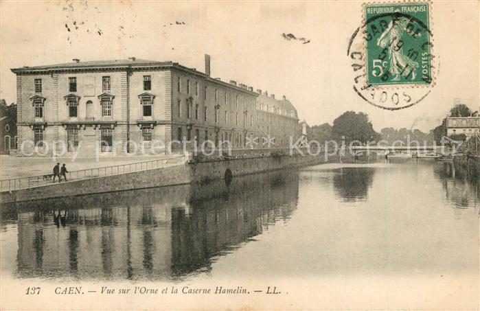 AK / Ansichtskarte Caen Vue sur l'Orne et la Caserne Hamelin Caen