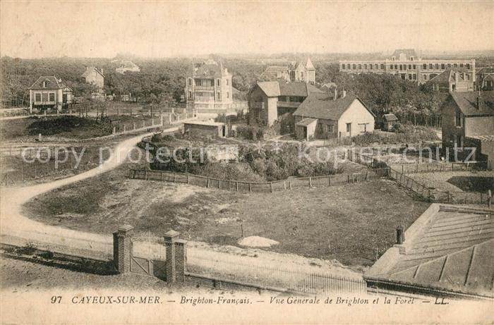 AK / Ansichtskarte Cayeux sur Mer Brighton Francais Vue generale de Brighton et la Foret Cayeux sur Mer 0