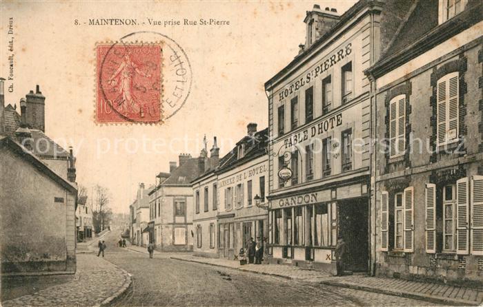 AK / Ansichtskarte Maintenon Vue prise Rue St Pierre Maintenon 0