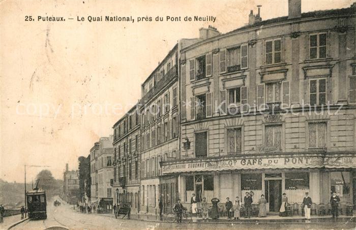 AK / Ansichtskarte Puteaux Le Quai National pres du Pont de Neuilly Puteaux 0