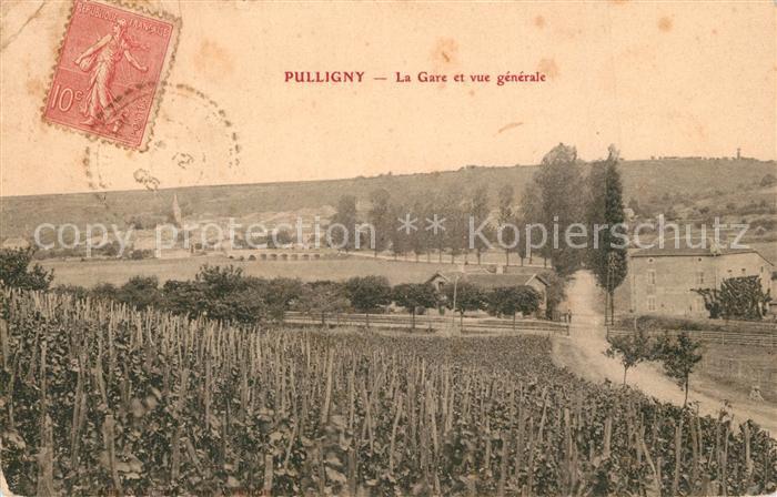 AK / Ansichtskarte Pulligny La Gare et vue generale Pulligny 0