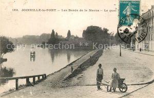 AK / Ansichtskarte Joinville le Pont Les Bords de la Marne Le quai Joinville le Pont