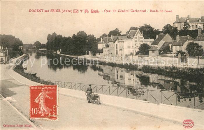 AK / Ansichtskarte Nogent sur Seine Quai du General Carbonnel Bords de Seine Nogent sur Seine 0